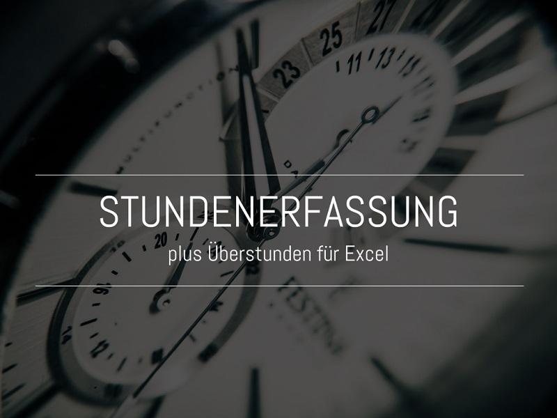 Stundenerfassung Und überstunden Excel Template Fischerberger