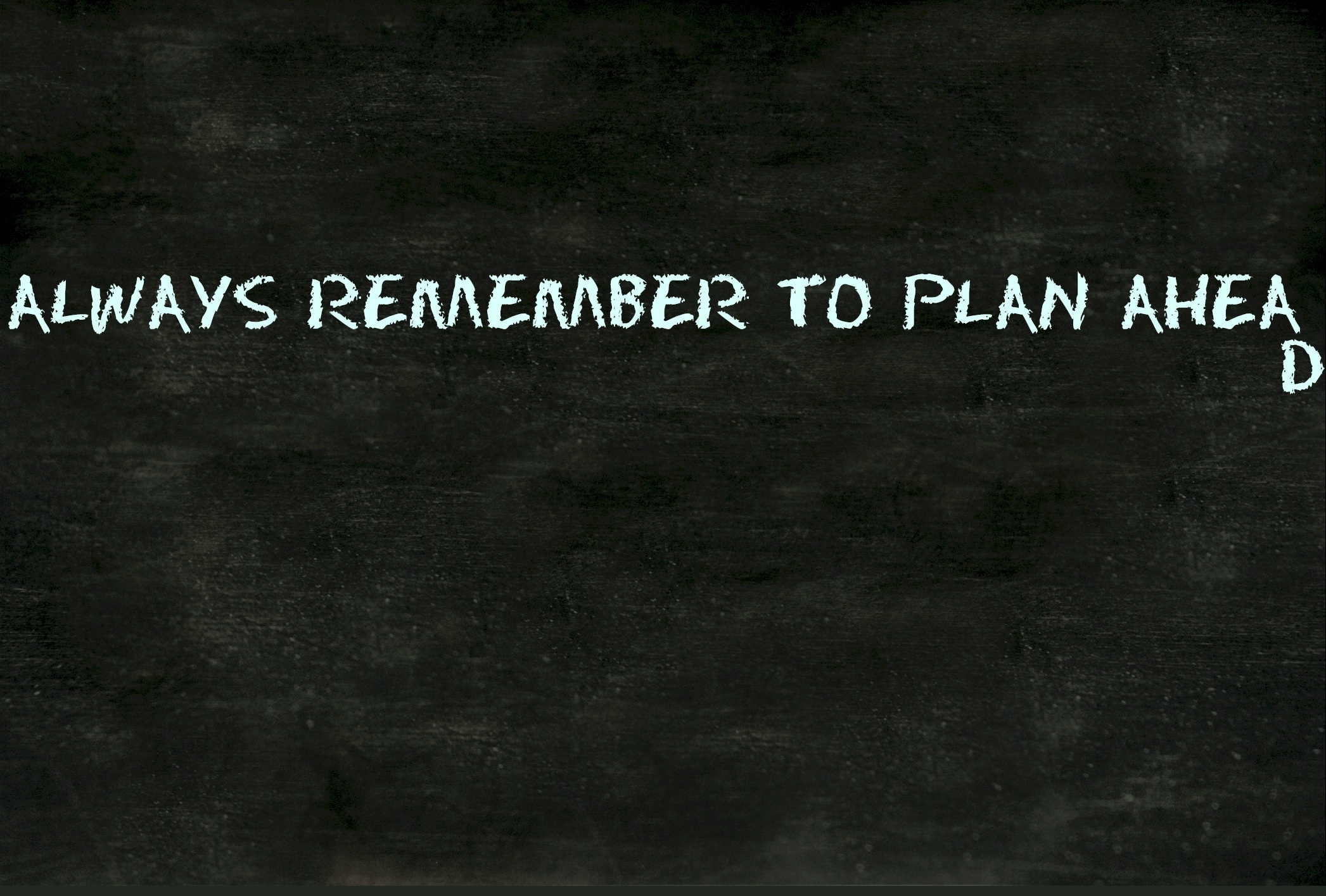 plan-ahead