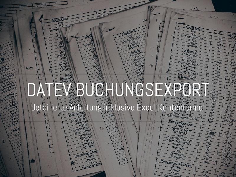 Kontobewegungen Aus Datev Exportieren Fischerberger Beratung